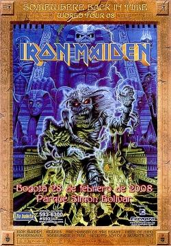 Afiche Iron Maiden Bogotá 2009