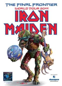 Afiche promocional Iron Maiden en Bogotá 2011