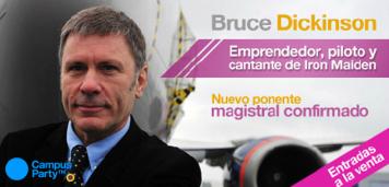 Bruce Dickinson estará en el Campus Party 2013, Medellín