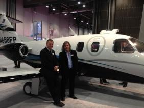 Bruce Dickinson y David Hayman @ Las Vegas, lanzamiento del jet Eclipse 550