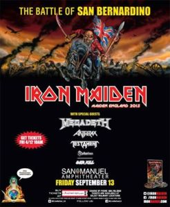 Iron Maiden USA Maiden England Tour