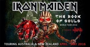 Iron Maiden 1ras fechas The Book Of Souls Tour