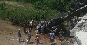 Accidente de camión con los equipos en Brasil