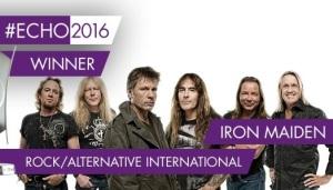Iron Maiden premios Echo 2016