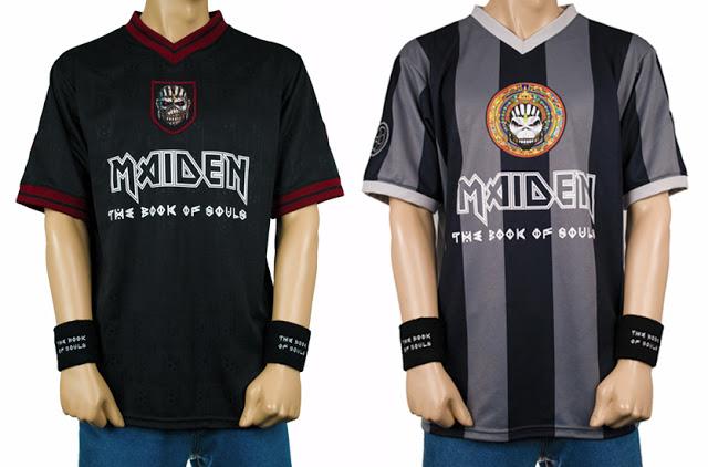 2c403ebe27 Maiden pone a la venta camisetas de fútbol de The Book Of Souls ...