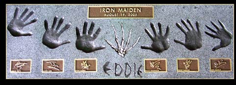 Maiden Hollywood's RockWalk