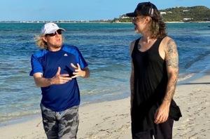Adrian Smith y Richie Kotzen Tomado de: Instagram Richie Kotzen